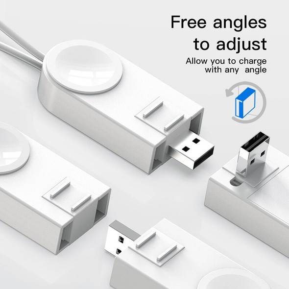 2 Types Wireless Charger For Apple Watch Free Angle Adjustable USB Cable Charger Usb Power Charging For IWatch With Keychain