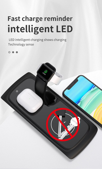 3 in 1 Wireless Charging Stand For Apple Watch 5 4 3 2 1 iPhone 11 X XS XR 8 Airpods Pro 15W Qi Fast Charger Dock Station