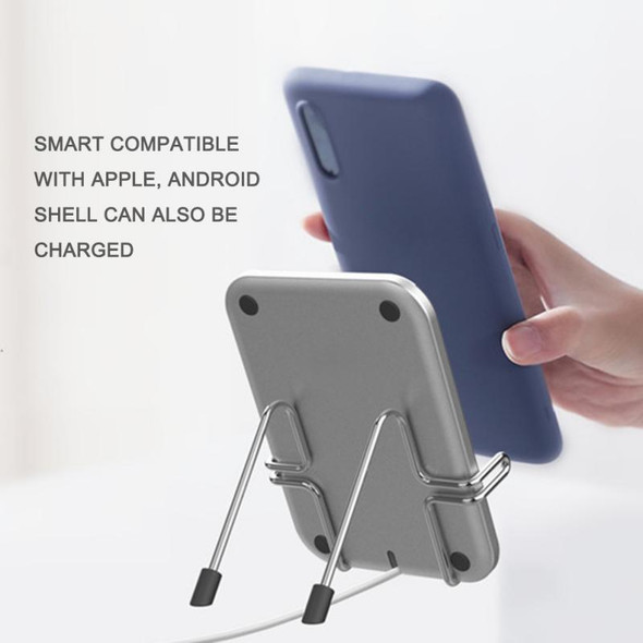 2 In 1 Wireless Charging Fast Wireless Charger Dock Station Fast Charging With Folding Bracket Multifunctional Desktop Charge