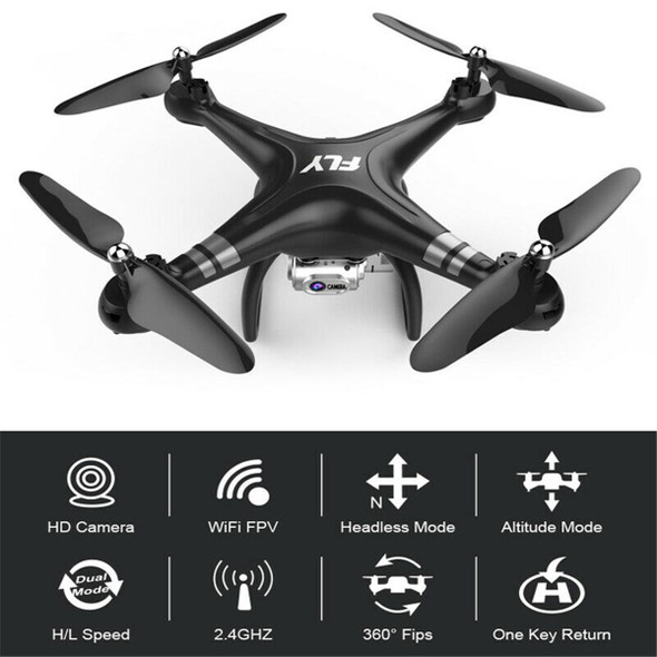 2.4GHZ 1080P Drone with Wifi FPV 5.0MP 4K Camera 360 Degree Flip RC Quadcopter 25 Minutes Flight Time Follow Me Mini Drone New