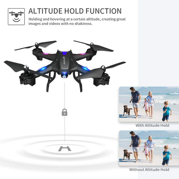 SNAPTAIN 720P HD Drone WiFi FPV Voice Control Gravity Sensor Function RTF One Key Take Off Landing Wide-Angle Live Video