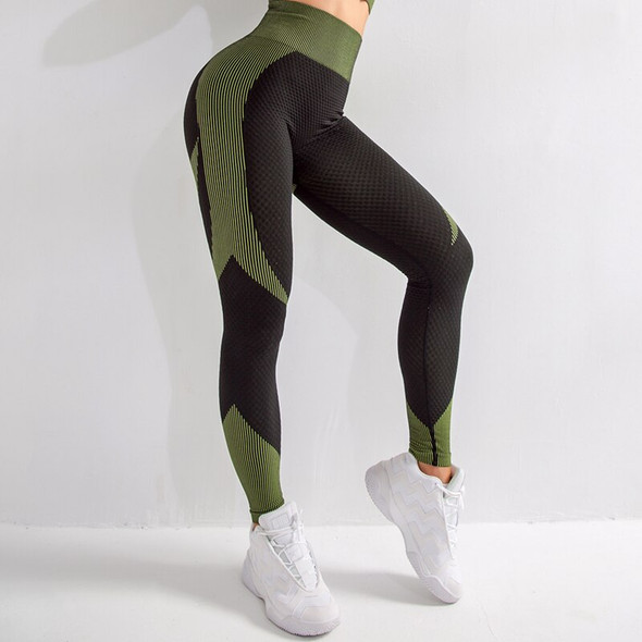 2020 High waist yoga fitness pants knitted seamless quick-drying breathable training flexible squat proof leggings