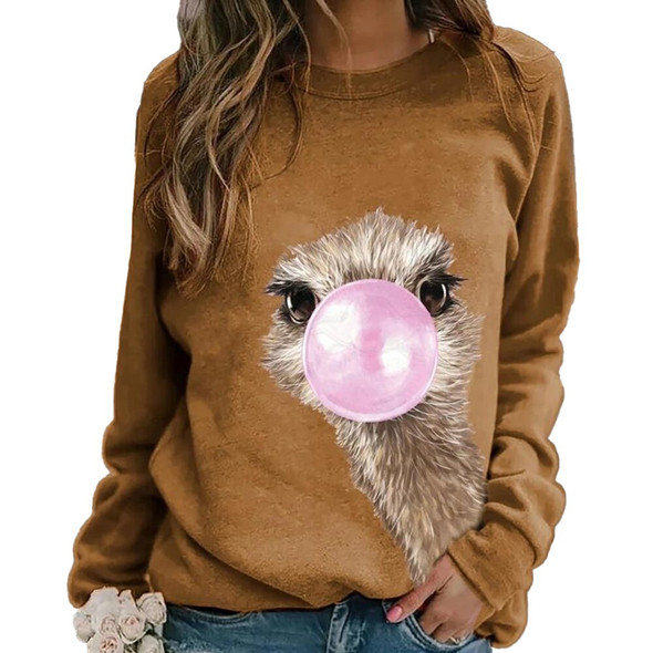 2020 New Cute Spring Sweaters for Women Long Sleeve Round Neck Slim Cartoon Print Pullover Tops Plus Size Female Fall Pullovers