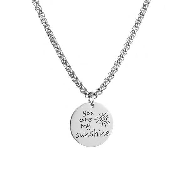 """You Are My Sunshine"" Europe And America Hip Hop Men Pendant Necklace"