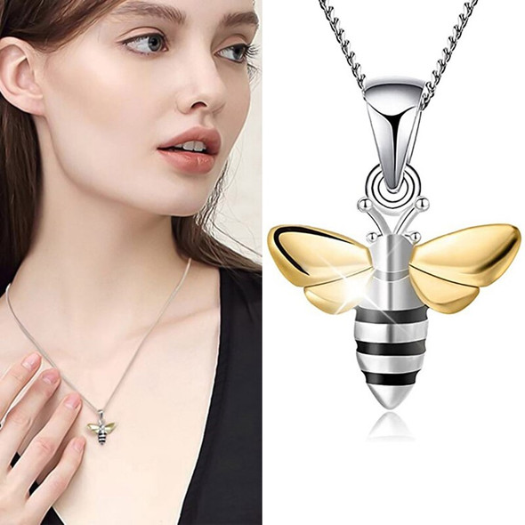 1 pcs Delicate Cute Bee Necklace Gold Color HoneyBee Pendant Necklaces For Women Valentines Day Gifts