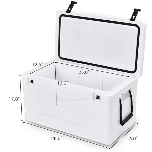 64 Quart Heavy Duty Outdoor Insulated Fishing Hunting Ice Chest Waterproof Buckets Cool Storage Box OP3242