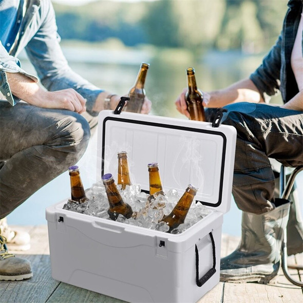 64 Quart Heavy Duty Outdoor Insulated Fishing Hunting Ice Chest Buckets Cool Storage Box OP3242
