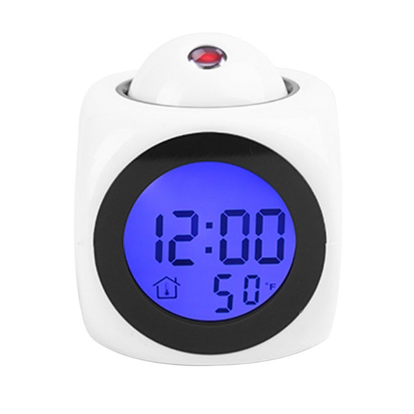 2020 new LCD Projection Voice Talking alarm clock backlight Electronic Digital Projector Watch desk Temperature display