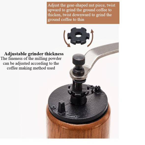 1PC Hand Coffee Grinder Adjustable Thickness of Household Solid Wood  Coffee Bean Grinder Kitchen Tool