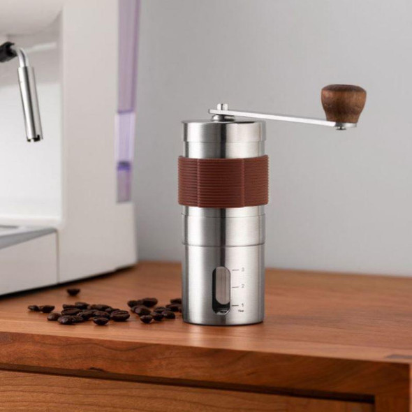 1PC Manual 304 Stainless Steel Coffee Grinder Adjustable Coffee Bean Mill portable Hand Grinder