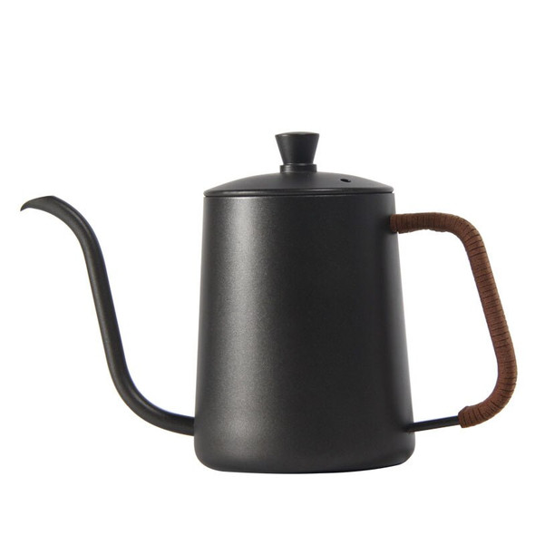 Drip Kettle Mounting Bracket Hand Punch Pot Coffee Pots With Lid Drip Gooseneck Spout Long Mouth Coffee Kettle Teapot 350/600ml