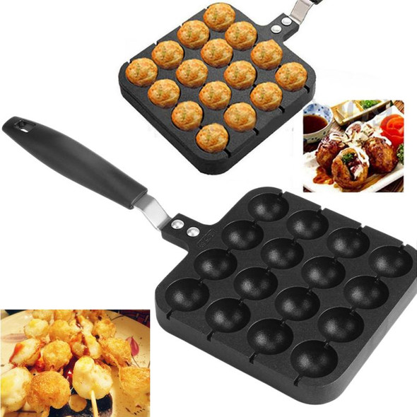 16 Hole Takoyaki Grill Pan Electric DIY Home Octopus Meat Ball Maker Plate Set Baking Machine Household Kitchen Cooking Mold