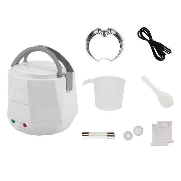Car Rice Cooker 24v Truck 1.6l Rice Cooker Mini Rice Cooker 2 People -3 People White Safe Portable Insulation