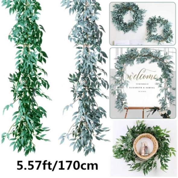 1.7m Artificial Willow vine faux plant for Wedding decoration plantas artificiales fake leaves garland rattan lierre artificiel