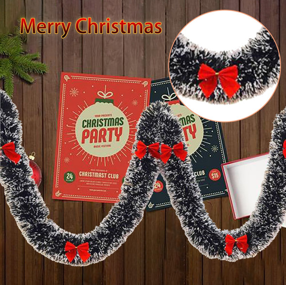 New Green Christmas Garland Wreath Xmas Home Party Shining Wreath Ornament Wall Hanging Decorations Pendant Holiday Decoration