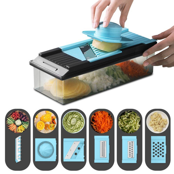 Kitchen Multi-function 7-in-1 Planer Box  Vegetable Cutter Manual Juicer Safety Grater Flaker Home Kitchen Tools