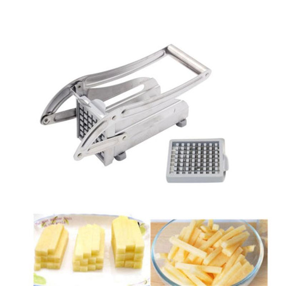 1PC Stainless Steel Potato Chipper Vegetable and French Fry Cutter French Fry Chips Cutter Slicer Chopper For Home Kitchen