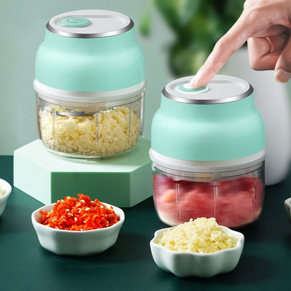 Electric Mini Garlic Chopper Vegetable Food Mincer USB Rechargeable for Home DAG-ship