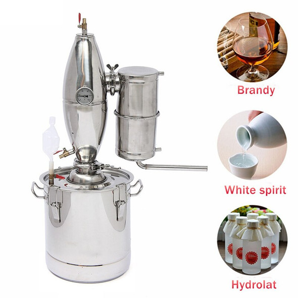 Effiicient 50L Distiller Alambic Moonshine Alcohol Still Stainless Copper DIY Home Brew Water Wine Essential Oil Brewing Kit