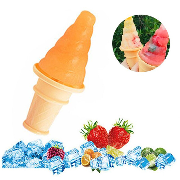 4 Cell Ice Cream Mold Popsicle Moulds DIY Homemade Cute Household Kitchen Ice Cream Popsicle Frozen Ice Pop Maker Mould