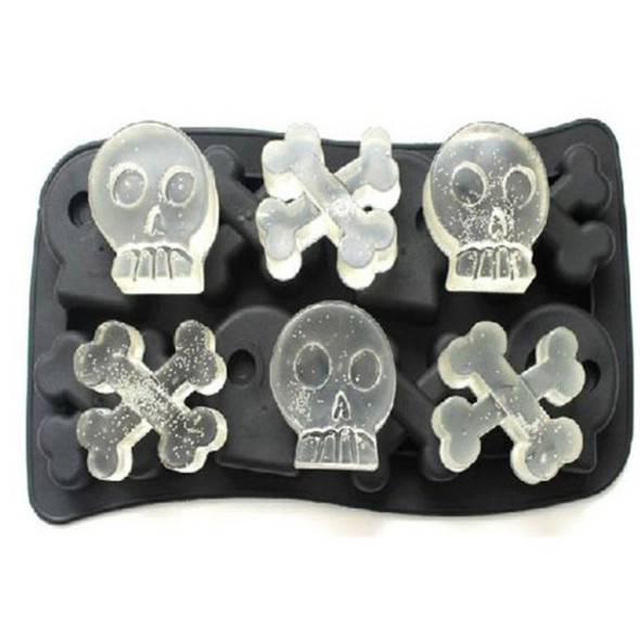 Multi-Slots Silicone Ice Cube Tray Molds DIY Desert Cocktail Juice Cooling Tool Ice Maker Mould 3D Skull Mold Kitchen Barware