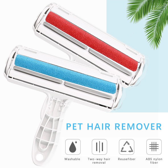 Reusable Pet Hair Remover Roller Sticking Dog Cat Hair Cleaning Brush Removing From Furniture Carpet Clothing Self-Cleaning Lint