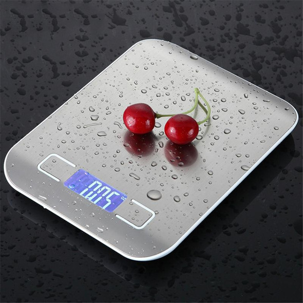 5kg~10kg/1g Kitchen Scale Stainless Steel Rechargeable Weighing Scale Food Diet Balance Measuring Electronic Baking Scales