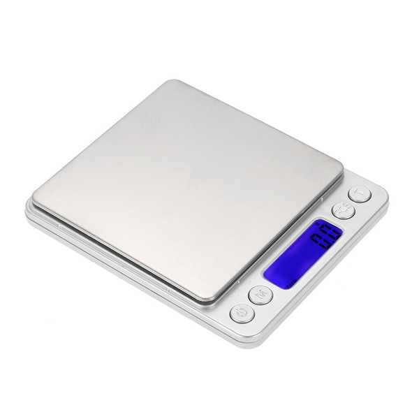 Digital Kitchen Scale Digital Food Scale Kitchen Baking Scale with LCD Backlight Display 2 Clear Tray 2000g/0.1g Kitchen Tool