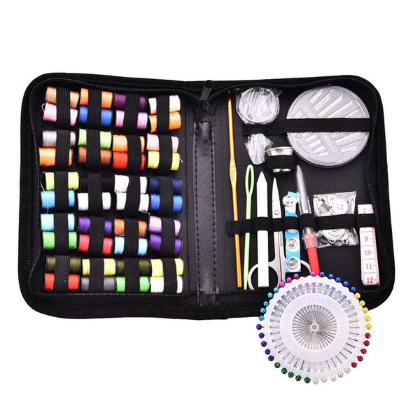 128Pcs Portable Travel Sewing Kit Needle Threader Sewing Box  Knitting Stitching Embroidery Craft Sewing Tools Sewing Set