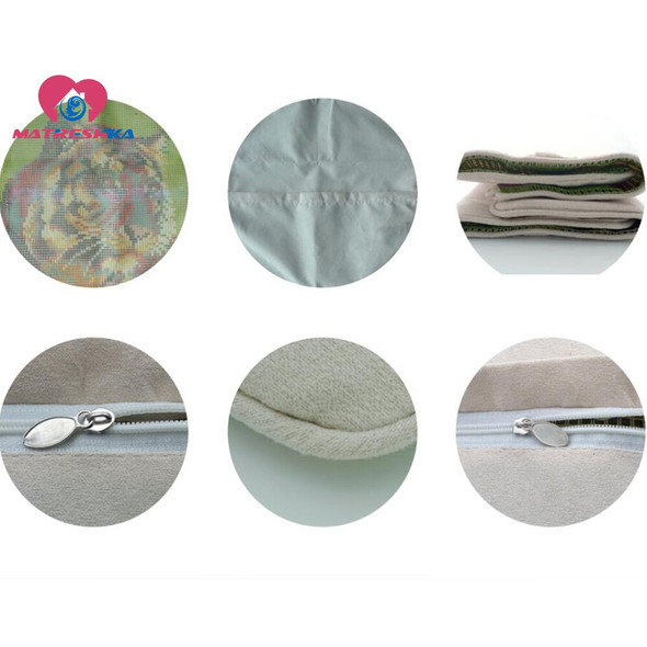 Dropshipping  Latch Hook kits Pillow Diy Handmade Printed Canvas Cushion Crocheting Latch Hook Kits Unfinished accessories 43x43