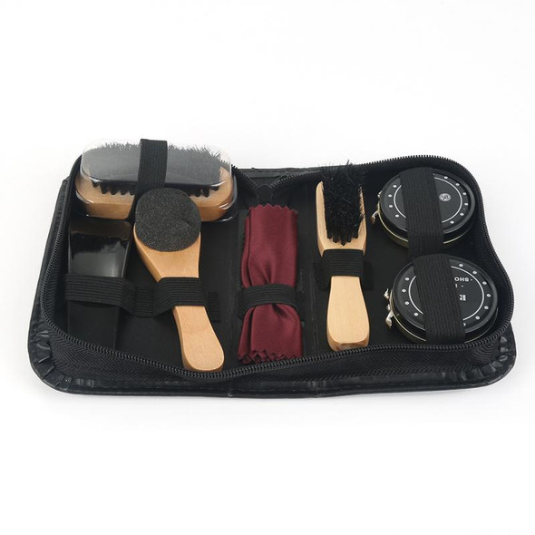 8 Pcs/Set Shoes Care Kit Portable For Boots Sneakers Cleaning Set Brush Shine Polishing Tool For Leather Shoes