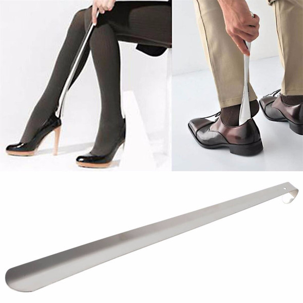 58cm Metal Shoe Horn with Long Handle Stainless Steel Shoes Remover Shoehorn Shoe Care & Accessories for Women Men