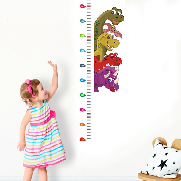 1 pcs Child Height Sticker Wall Sticker Kid Room Bedroom Height Meter Stickers Funny Cartoon Animal Growth Height Ruler#0609SY30