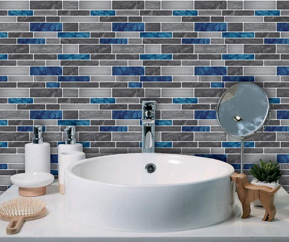 """11.8"""" Peel and Stick  Backsplash Tile for Kitchen Self Adhesive Marble Waterproof Home Wall Background"""
