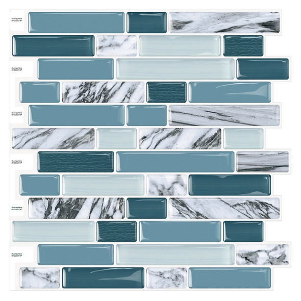 """Cocotik 12""""x12"""" Kitchen Backsplash Tiles Peel and Stick Wall Stickers, 10 Sheets/Pack"""
