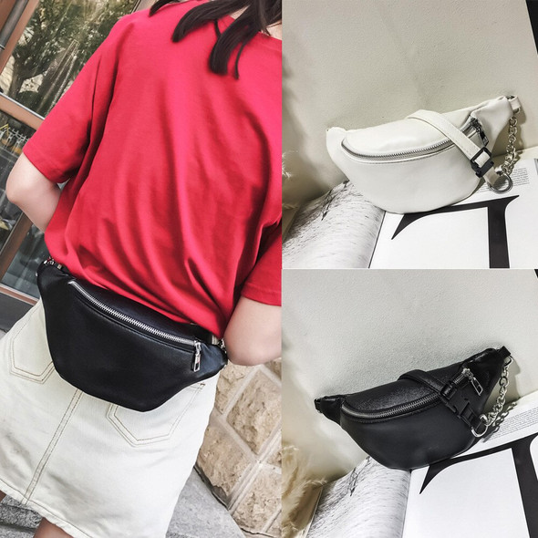 new waist bag Women fanny pack Chain Leather Shoulder Chest Bags solid color waist packs hot