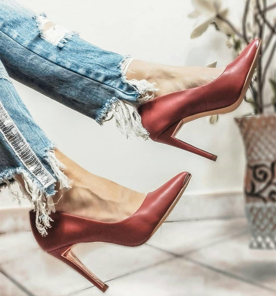 2020 Hot Sexy High Heel Pumps Black Red Whtie Closed Pointed Toe Pumps Stiletto High Heels Office Wedding Party Dress Zapatos