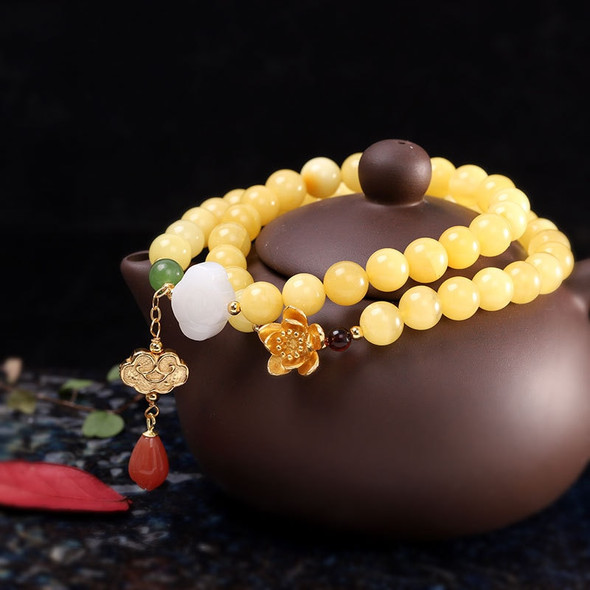 925 Sterling Silver Accessories Womens Amber Bracelet