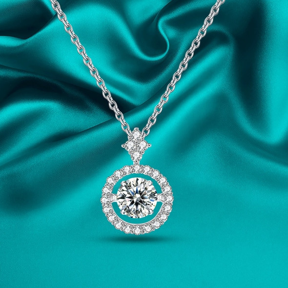 GEMS BALLET Moissanite Pendant Necklace 925 Sterling Silver Jewelry for Women Diamond with Twinkle Setting