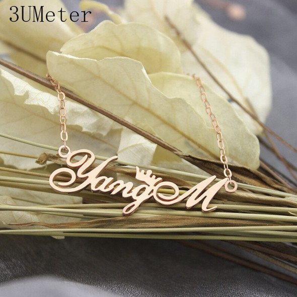 3UMeter Fashion 925 Silver Personalized Name Necklace Custom Name Necklace Custom Name Necklace Old English Name Jewelry Gift