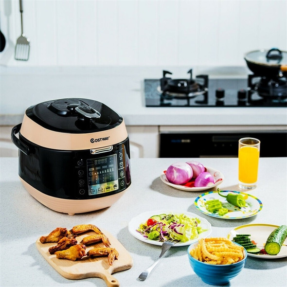 Costway High Quality 12-in-1 Multi-use Programmable Electric Pressure Cooker Non-stick Pot Pressure Adjustment EP23973
