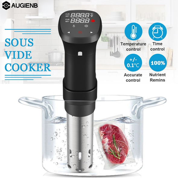 1100W Slow Sous Vide Cooker Thermal Immersion Circulator Machine with Large Digital LCD Display Time and Temperature Control