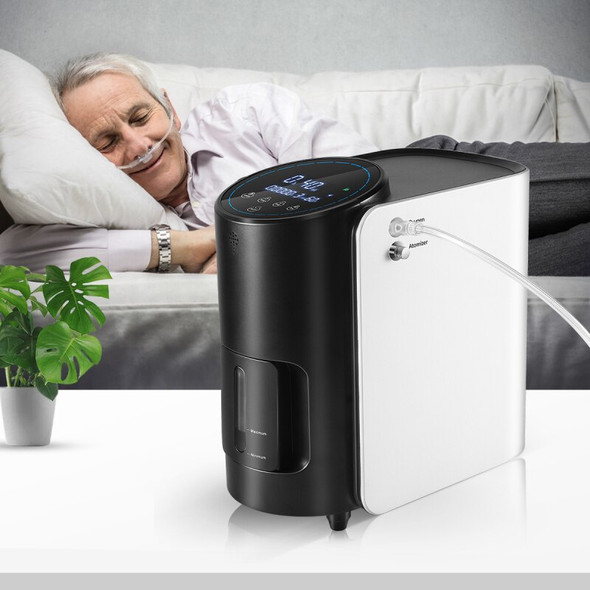1-7L/min Portable Oxygen Concentrator Machine Generator AC 220V/110V Oxygen Making Machine Without Battery Air Purifier