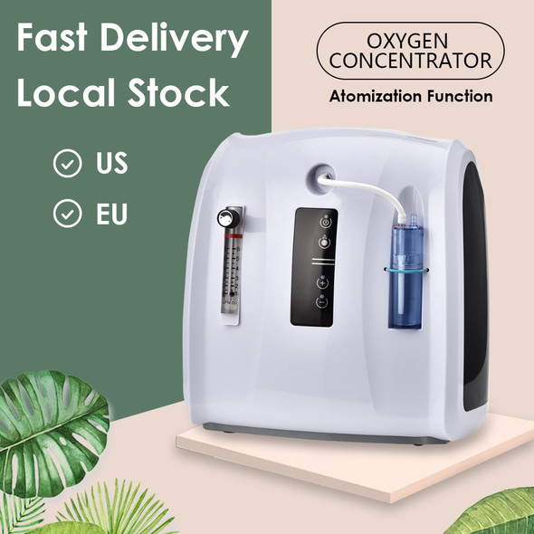 Oxygen Concentrator Machine 1-6L/min Adjustable Portable Oxygen Machine for Home and Travel Use Without Battery AC 110V/220V
