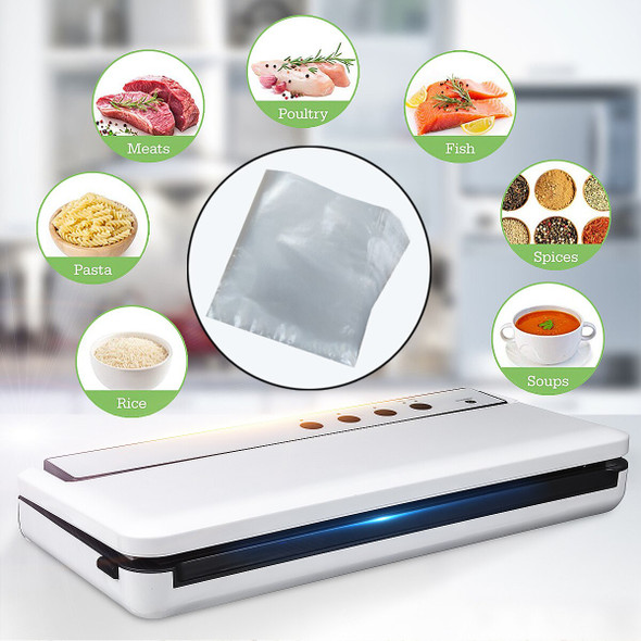 120W Vacuum Sealers Kitchen Automatic Electric Vacuum Sealing Machine with 10pcs Bags Vacuum Packer Sealing Packaging