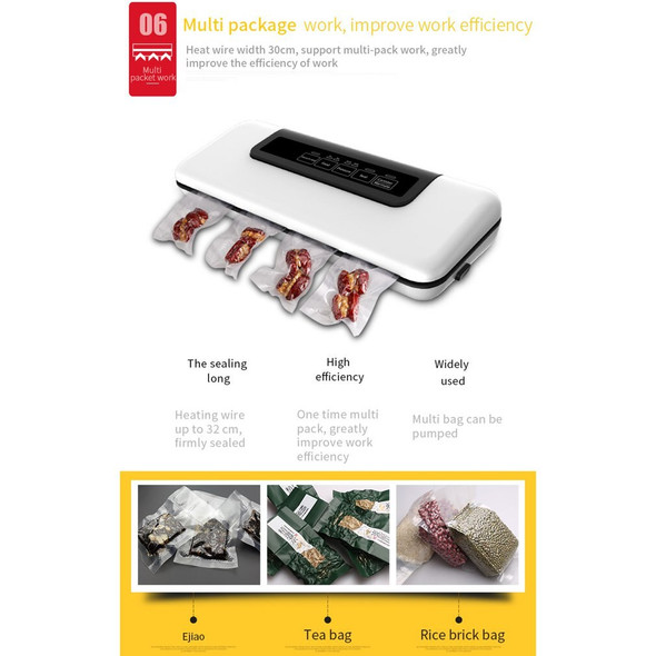 Automatic Vacuum Sealer Packer Vacuum Air Sealing Packing Machine For Food Preservation Dry & Wet Food with Free 10pcs Bags