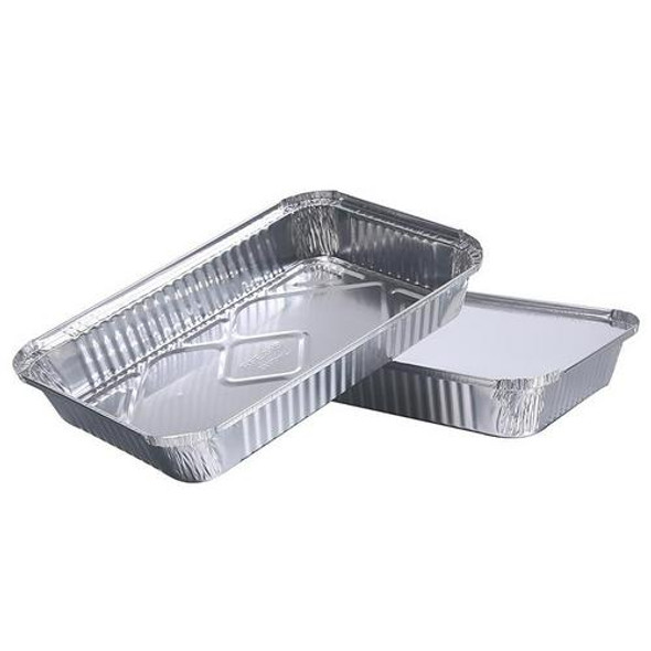 10pcs Disposable BBQ Drip Pans Aluminum Foil Grease Recyclable Grill Catch Tray For Weber Outdoor Supplies Baking Accessories
