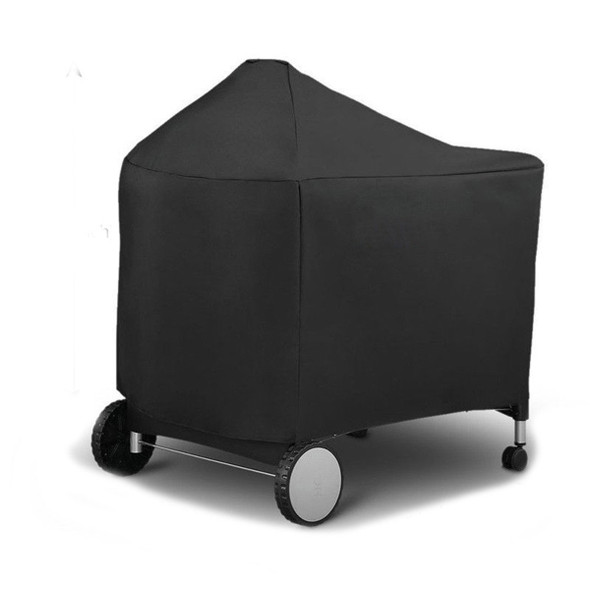 124X65X101cm Black Barbeque BBQ Grill Cover for Weber 7152 Storage Bag 22-Inch Charcoal Grills Camping BBQ Accessories