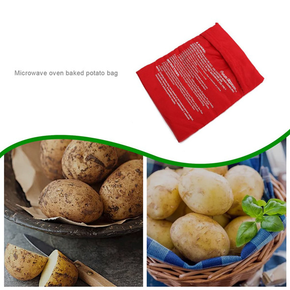 Washable Potato Bag Microwave Oven Potato Bag Roasted Potatoes Microwave Oven Baking Bag Cooking Tool Kitchen Accessories