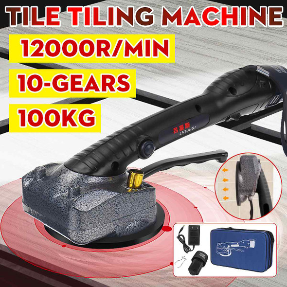 1000W Tiling Tiles Machine For 100KG Tiles Vibrator Suction Cup 10-Gear Adjustable Automatic Floor Vibrator Leveling Tool